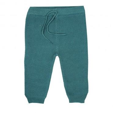 Pantalon maille bébé - Bleu