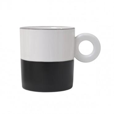 Tasse bicolore - Noir / Blanc