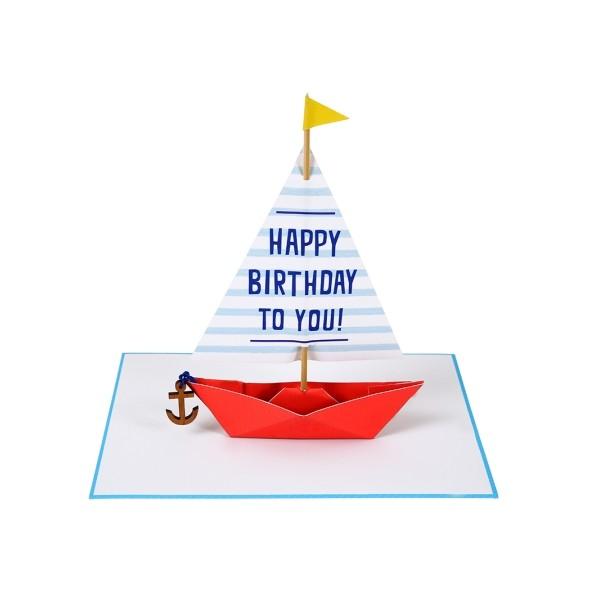 Carte anniversaire - Sailing boat
