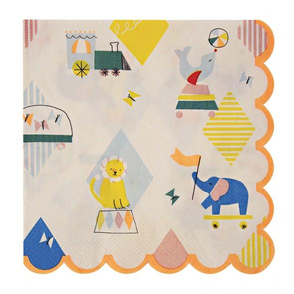 20 serviettes en papier - Silly circus