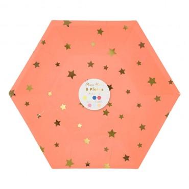 8 assiettes en carton - Jazzy star