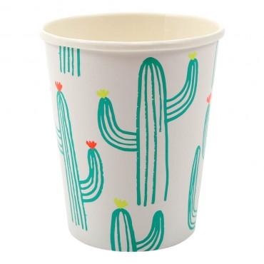 12 gobelets en carton - Cactus