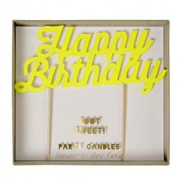 Grande bougie d'anniversaire - Happy birthday
