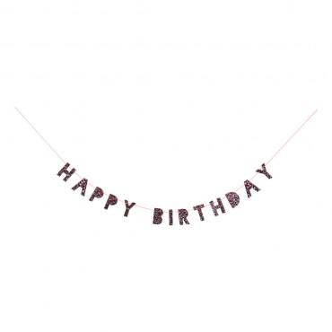 Guirlande pailletée - Happy birthday