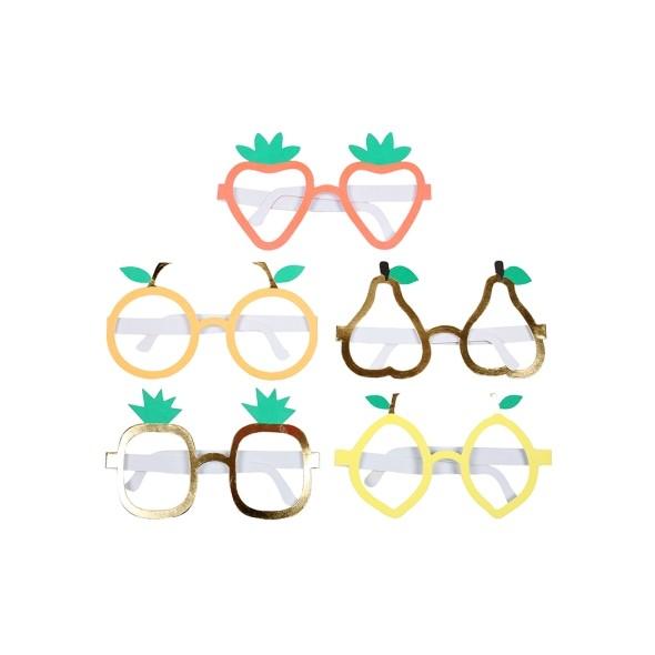 10 lunettes déguisement de fête - Fruits