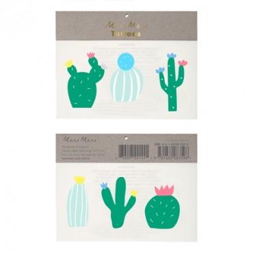 2 planches de tatouages éphémères - Cactus