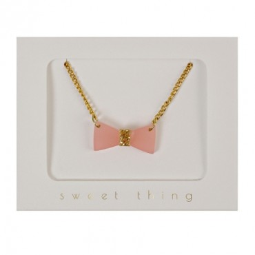 Collier enfant - Noeud rose