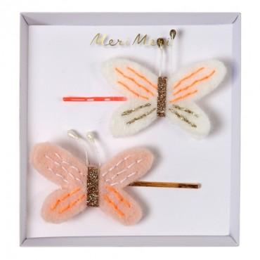 2 barrettes - Papillons