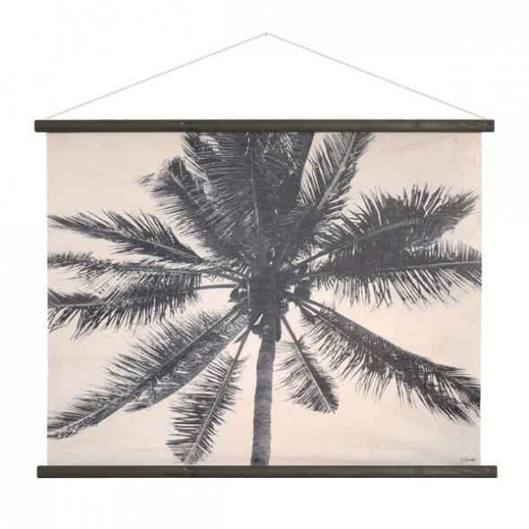 Décoration murale - Palmier noir/blanc