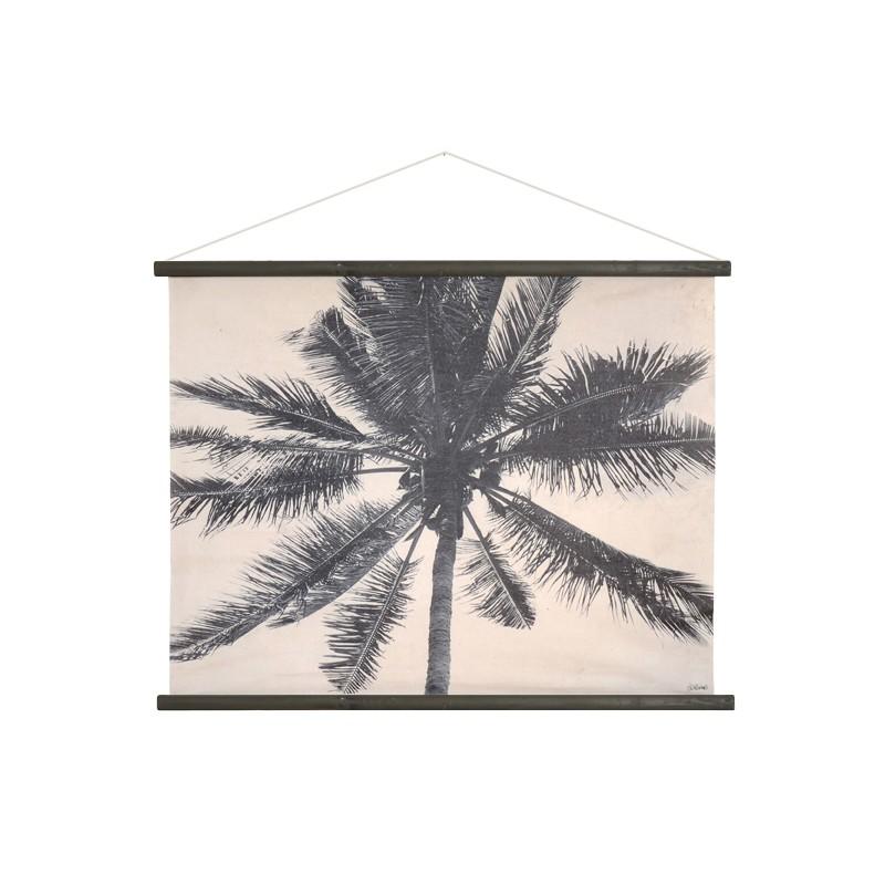 d coration murale palmier noir blanc hk living perlin paon paon. Black Bedroom Furniture Sets. Home Design Ideas