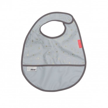Bavoir plastifié - Or et gris
