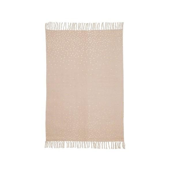 Tapis coton - Poudre/pois dorés