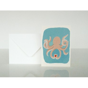 Carte postale Octopus in love