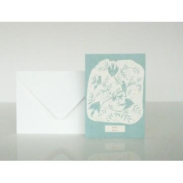 Carte postale Merci - Sur la branche