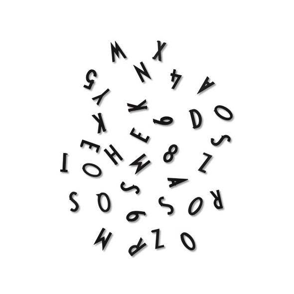 Set de lettres pour pegboard - Noir