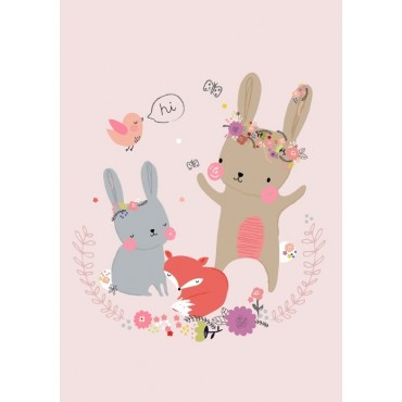 Carte postale - A.Baylis - Bunny and friends