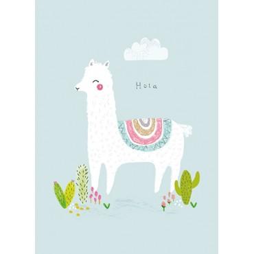 Carte postale - A.Baylis - Hola Alpaca