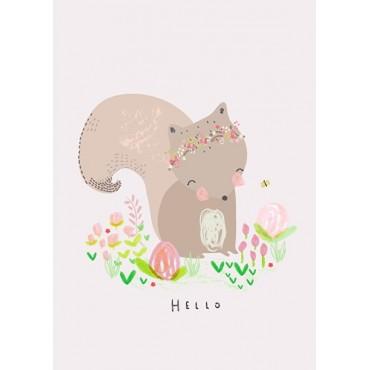 Carte postale - A.Baylis - Hello squirrel