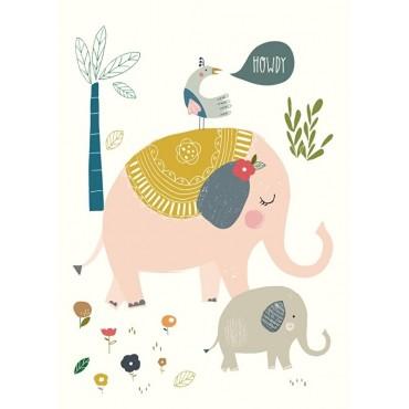 Carte postale - N. Upsher - Howdy elephants