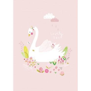 Affiche A4 - A.Baylis - Lovely day swan