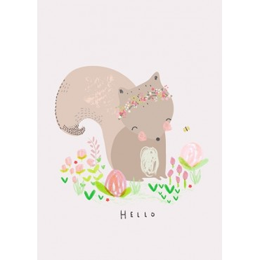 Affiche A4 - A.Baylis - Squirrel hello