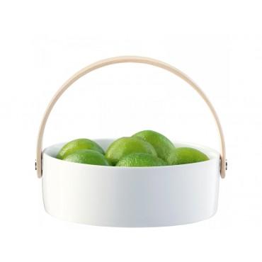 Coupelle Circle avec poignée en frêne