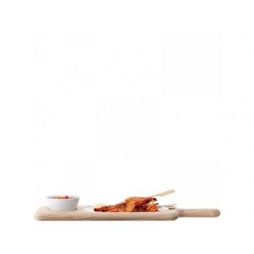 Service à condiments Paddle avec plateau en chêne