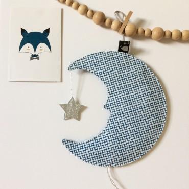 Veilleuse Lune profil - Bleu