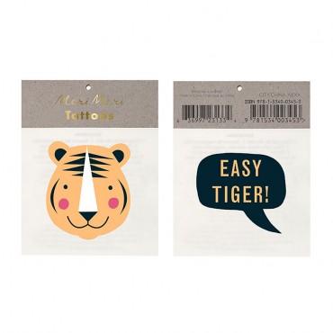 2 planches de tatouages éphémères - Easy tiger