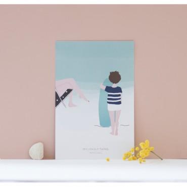 Carte postale Sur la plage Garçon
