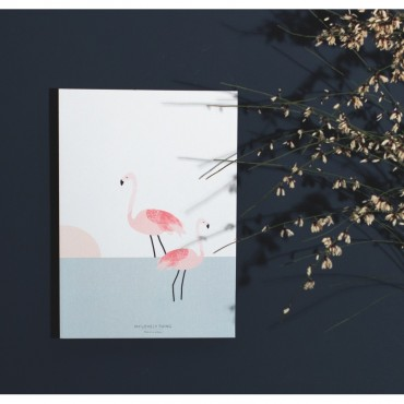 Affiche Flamingo Couple