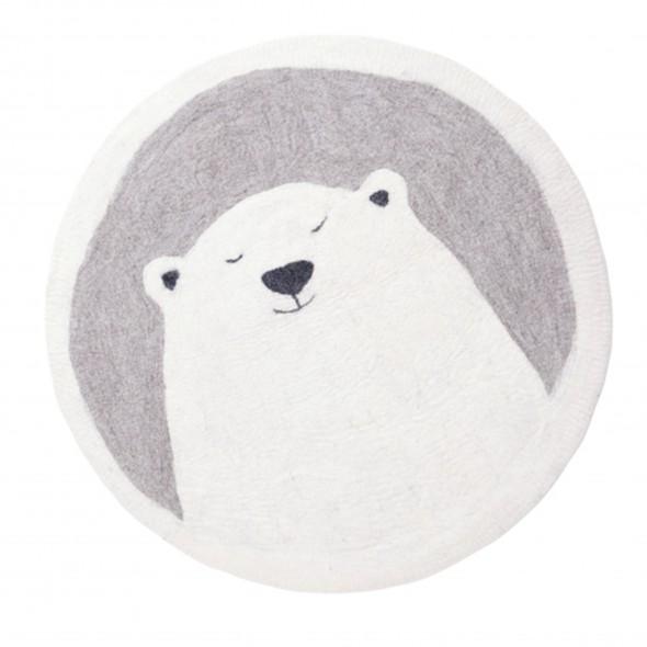 Tapis feutre Pasu - Grizzly / Pierre clair