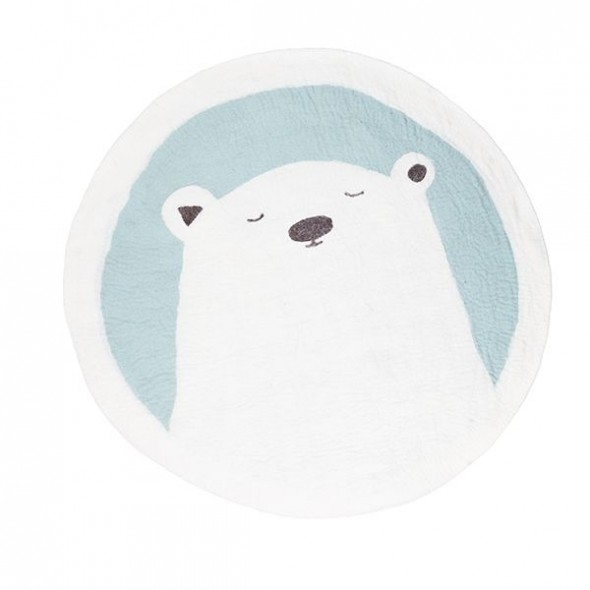 Tapis feutre Pasu - Grizzly / Jade