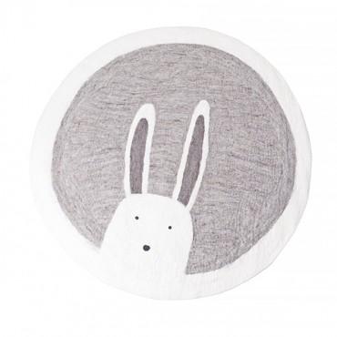 Tapis feutre Pasu - Bunny / Pierre clair