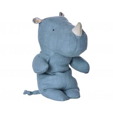 Doudou Rhino - Bleu