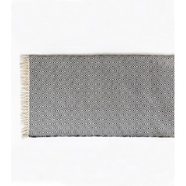 Tapis ethnique Chandi - Noir & Blanc (120 x 180)