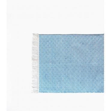 Tapis ethnique Chandi - Bleu turquoise (150 x 240)