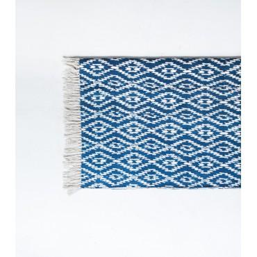 Tapis ethnique César - Bleu (90 x 210)
