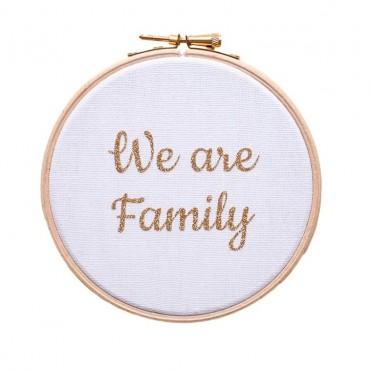 Cadre We are Family  - Blanc & doré