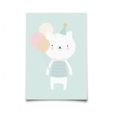 Carte postale Party Animals - Kitten