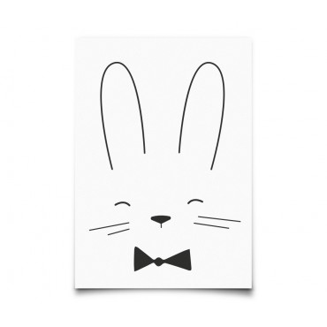 Carte postale Monochrome Animals - Rabbit