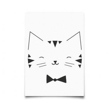 Carte postale Monochrome Animals - Cat