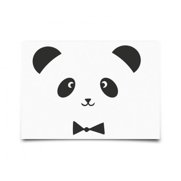 Carte postale Monochrome Animals - Panda