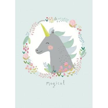 Affiche A4 - A.Baylis - Unicorn Magical