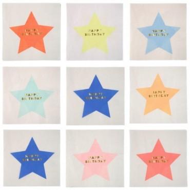16 serviettes en papier - Jazzy star