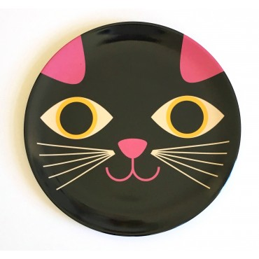 Assiette par Ingela P. Arrhenius - Chat (face)