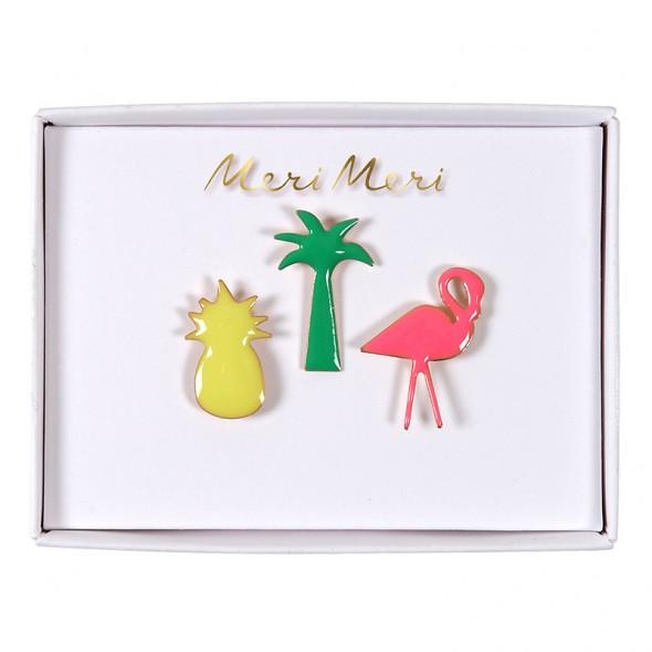 Set de 3 pin's en émail - Tropical