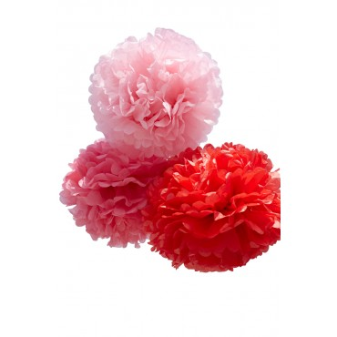 Grand Pom - Rouge (set de 3)