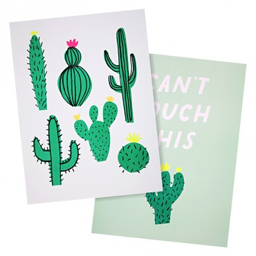 Set de 2 affiches - Cactus