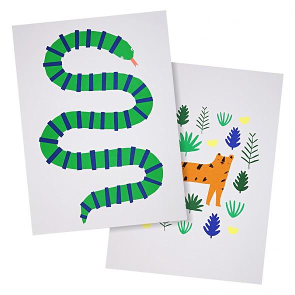 Set de 2 affiches - Jungle